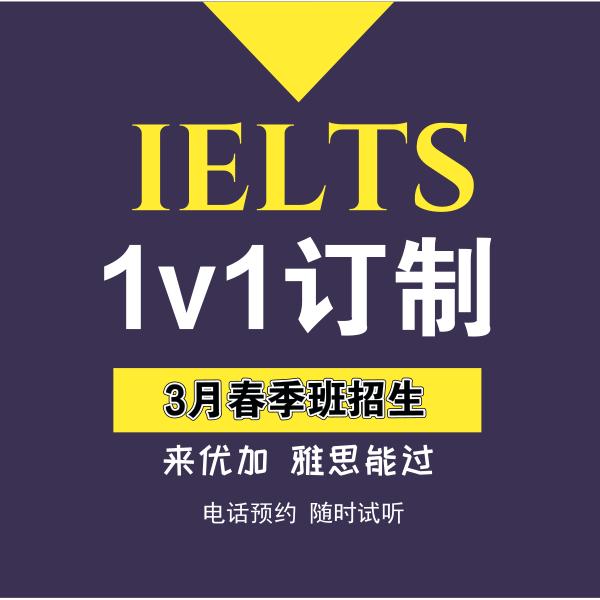 3月开学季雅思初高中1v1定制课程