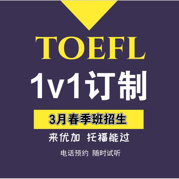 3月开学季托福初高中1v1定制课程