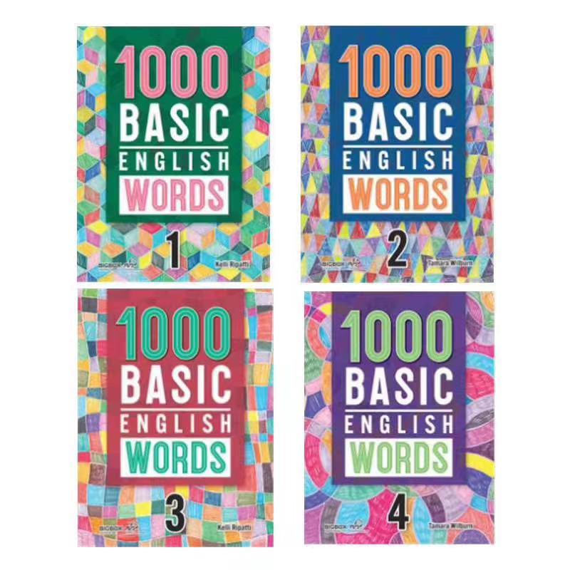 KET词汇书《1000 Basic English words》(1-4册)的使用指南
