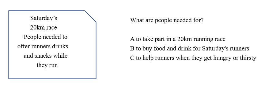 KET考试阅读真题解析(20年11月14日考试)